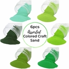 Craft and Terrarium Decorative Assorted Colored Sand (6lb, Shades of Green) - Premier