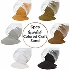 Craft and Terrarium Decorative Assorted Colored Sand (6lb, Shades of Neutrals) - Premier