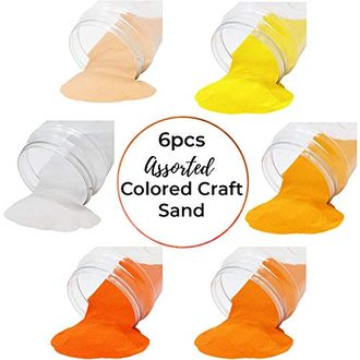 Craft and Terrarium Decorative Assorted Colored Sand (6lb, Shades of Orange) - Premier