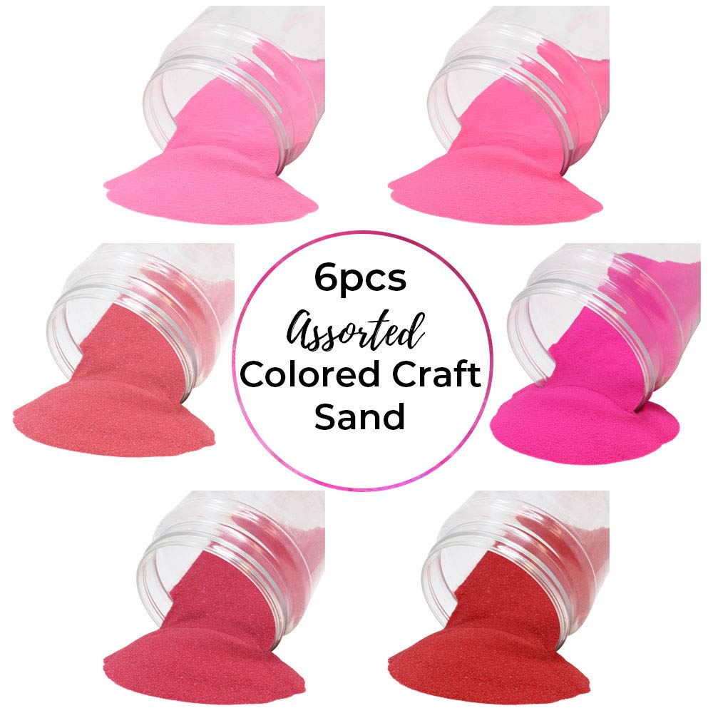 Craft and Terrarium Decorative Assorted Colored Sand (6lb, Shades of Pink) - Premier