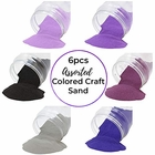 Craft and Terrarium Decorative Assorted Colored Sand (6lb, Shades of Purple) - Premier