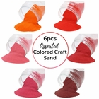 Craft and Terrarium Decorative Assorted Colored Sand (6lb, Shades of Red) - Premier