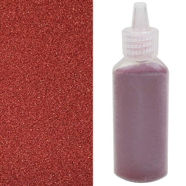Craft and Terrarium Decorative  Colored Sand 1.25oz Maroon