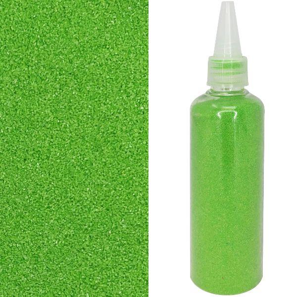 Craft and Terrarium Decorative Colored Sand 6.7oz Green Apple