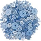 Craft Buttons Assorted Light Blue 10oz