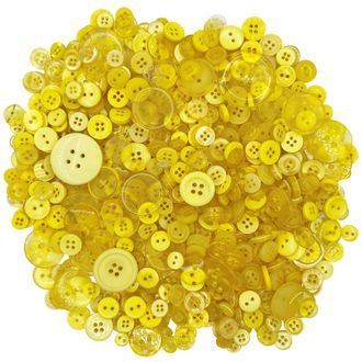 Craft Buttons Assorted Yellow 10oz