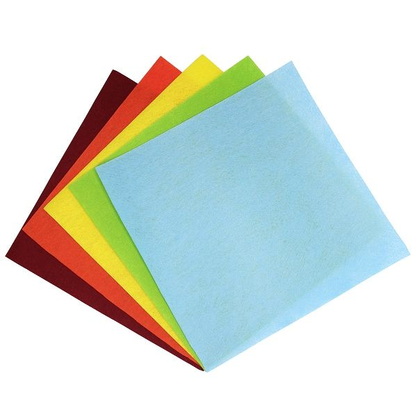 Craft Felt Sheets 25pcs Non Woven 12 x 12IN Assorted