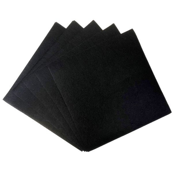 Craft Felt Sheets 25pcs Non Woven  12 x 12in Black