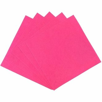 Craft Felt Sheets 25pcs Non Woven  12 x 12in Bubblegum