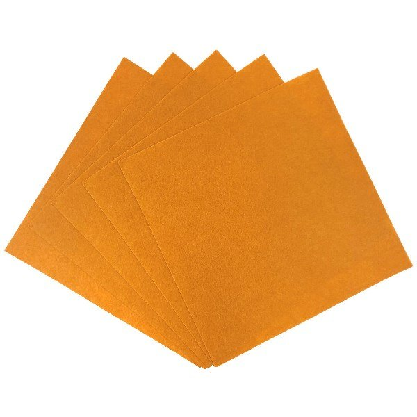 Craft Felt Sheets 25pcs Non Woven  12 x 12in Burnt Orange