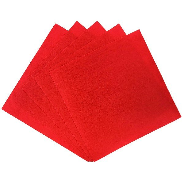 Craft Felt Sheets 25pcs Non Woven  12 x 12in Cherry Red