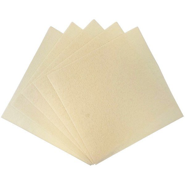 Craft Felt Sheets 25pcs Non Woven  12 x 12in Ivory
