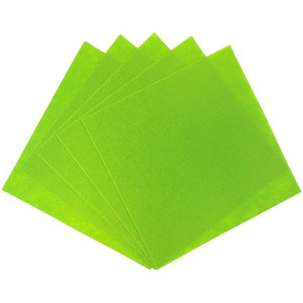 Craft Felt Sheets 25pcs Non Woven  12 x 12in Melon Green