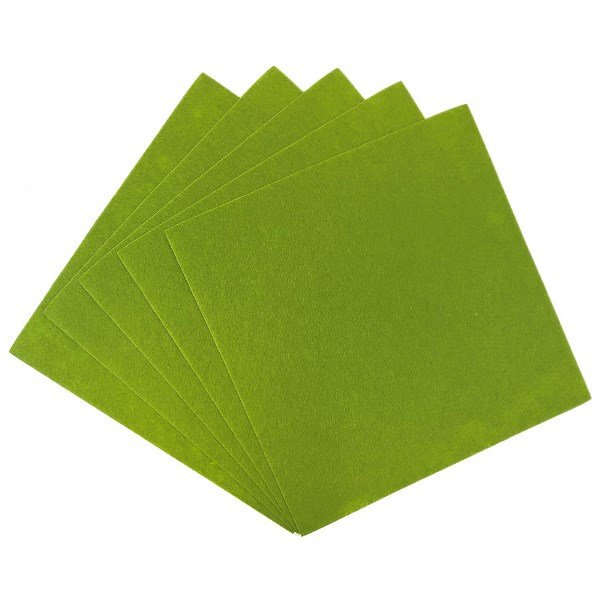 Craft Felt Sheets 25pcs Non Woven  12 x 12in Olive