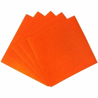 Craft Felt Sheets 25pcs Non Woven  12 x 12in Orange