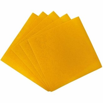 Craft Felt Sheets 25pcs Non Woven  12 x 12in Sunflower Yellow
