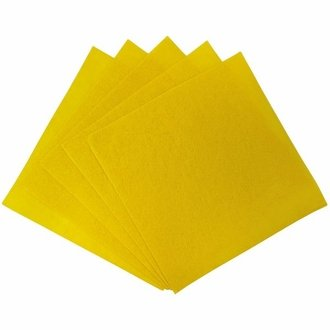 Craft Felt Sheets 25pcs Non Woven  12 x 12in Yellow