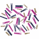 Craft Wood Clothespins/Peg Pins (148pcs, Navy, Magenta, Champagne Glitter) - Premier