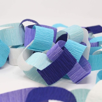 Crepe Paper Roll 20in Baby Blue 70g