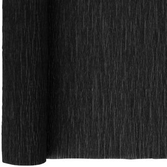 Crepe Paper Roll 20in Black 90g