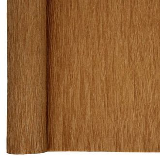 Crepe Paper Roll 20in Brown 70g