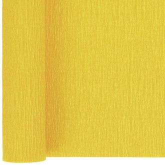 Crepe Paper Roll 20in Canary Yellow 90g