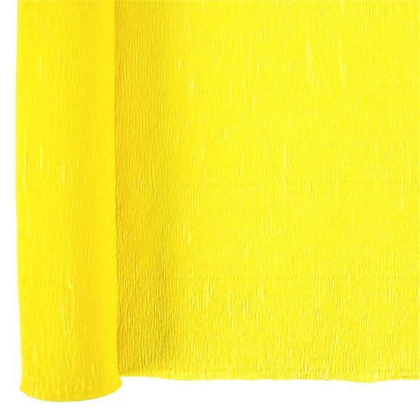 Crepe Paper Roll 20in Lemon Yellow 90g