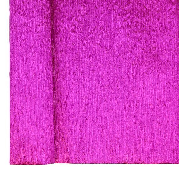 Crepe Paper Roll 20in Metallic Fuchsia