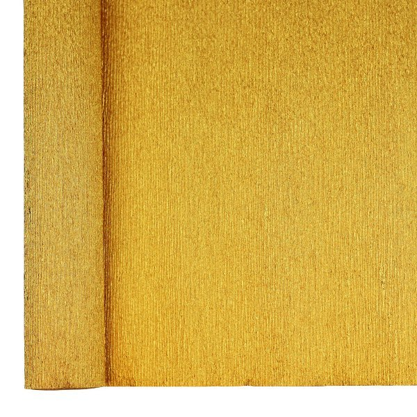 Crepe Paper Roll 20in Metallic Gold 70g