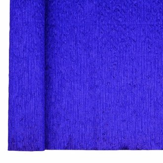 Crepe Paper Roll 20in Metallic Indigo Blue