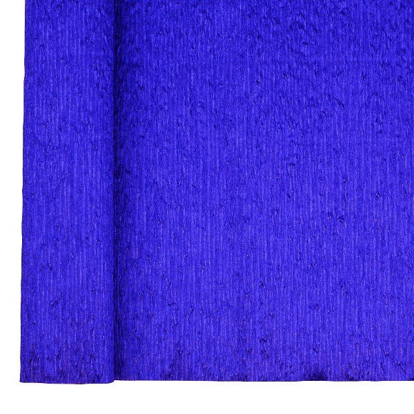 Crepe Paper Roll 20in Metallic Indigo Blue 70g