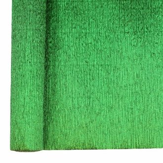 Crepe Paper Roll 20in Metallic Kelly Green 70g