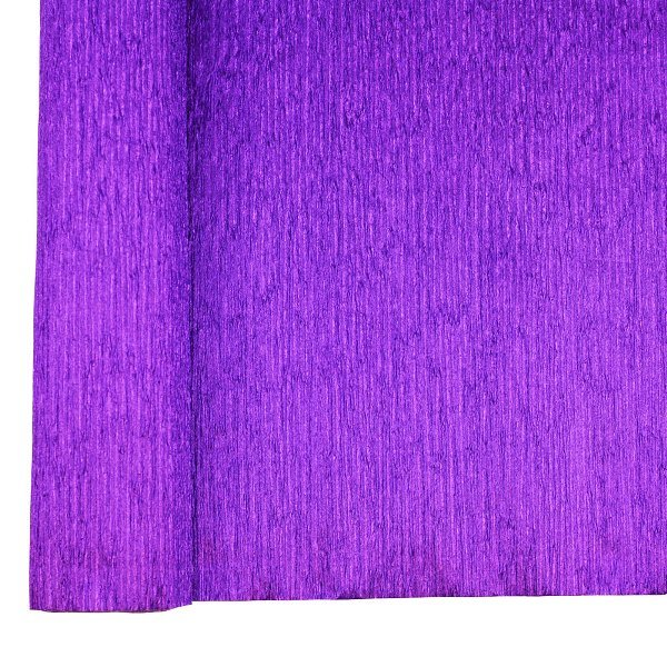 Crepe Paper Roll 20in Metallic Purple