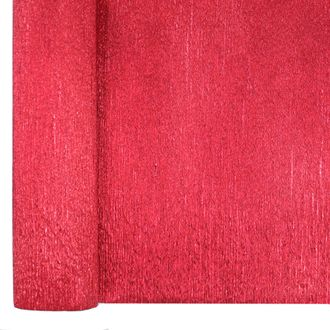 Crepe Paper Roll 20in Metallic Red