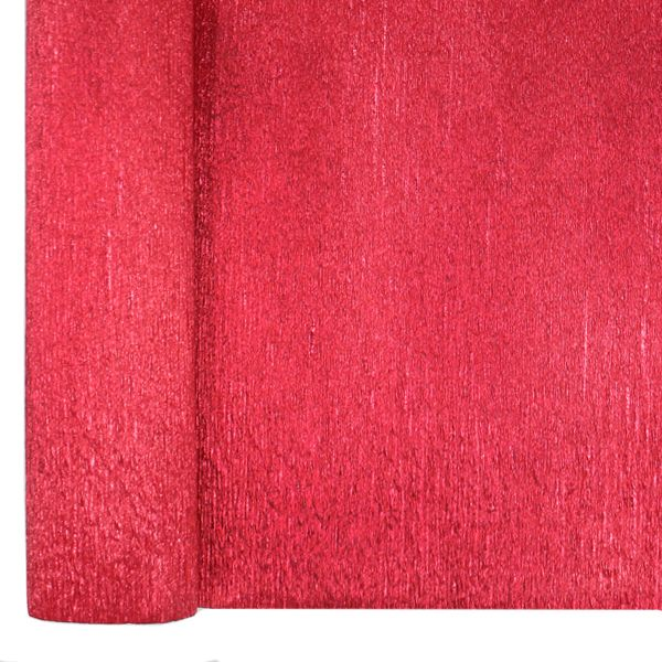 Crepe Paper Roll 20in Metallic Red 70g