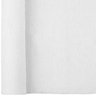Crepe Paper Roll 20in White 90g