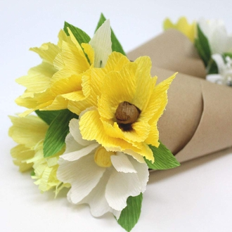 Crepe Paper Roll 20in Yellow 70g
