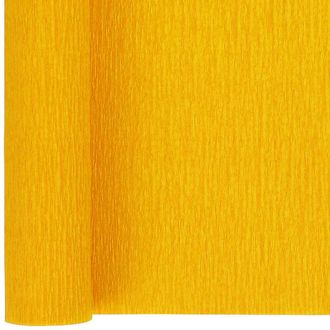 Crepe Paper Roll 20in Yellow 90g