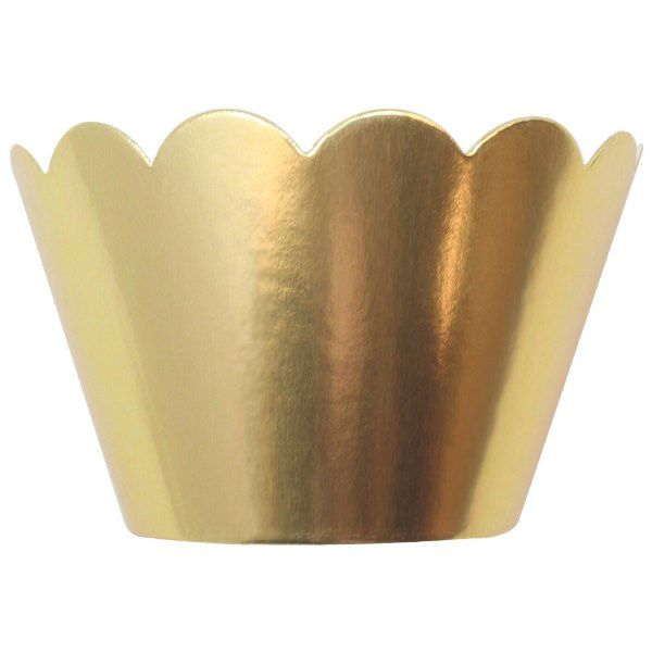 Cupcake Wrapper 8pcs Metallic Gold