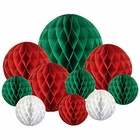 Decorative 10pcs Assorted Honeycomb Balls (Christmas 2) - Premier