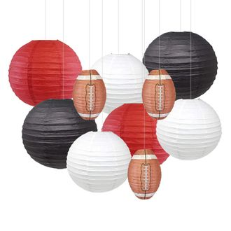 Decorative 10pcs Game Day Football Paper Lanterns (Arizona) - Premier