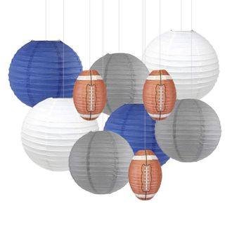 Decorative 10pcs Game Day Football Paper Lanterns (Indianapolis) - Premier
