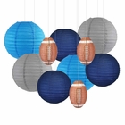 Decorative 10pcs Game Day Football Paper Lanterns (Tennessee) - Premier