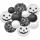 Decorative 12pcs Halloween Paper Lanterns Assorted Sizes & Colors (Color: Spooktacular) - Premier