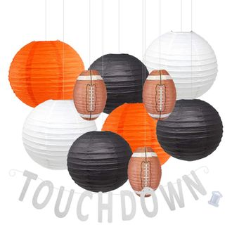 Decorative 20pcs Game Day Football Paper Lanterns (Cincinnati) - Premier