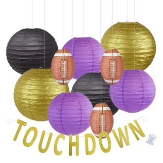Decorative 20pcs Game Day Football Paper Lanterns (Minnesota) - Premier