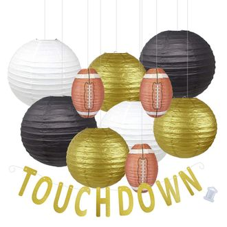 Decorative 20pcs Game Day Football Paper Lanterns (New Orleans) - Premier