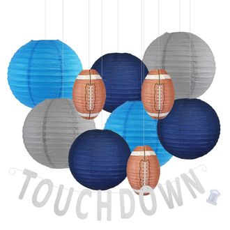 Decorative 20pcs Game Day Football Paper Lanterns (Tennessee) - Premier