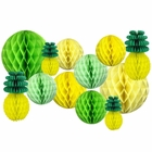 Decorative Pineapple Party Tissue Paper Honeycomb Balls (Color: Tropical 1) - Premier