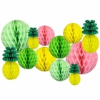 Decorative Pineapple Party Tissue Paper Honeycomb Balls (Color: Tropical 2) - Premier